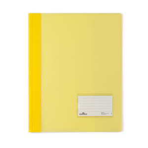 Durable Schnellhefter transluzent, A4, gelb 10 Stück