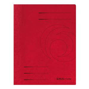 herlitz Spiralhefter - DIN A4 - Quality-Karton - rot - 25...