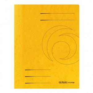 herlitz Spiralhefter - DIN A4 - Quality-Karton - gelb -...