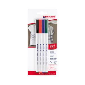 edding 4600 Textilstift - 1 mm - 4er Blister - basic