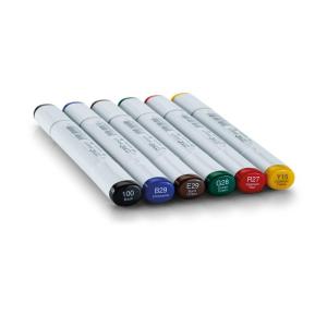 COPIC Sketch 6er Set - Kräftige Grundfarben