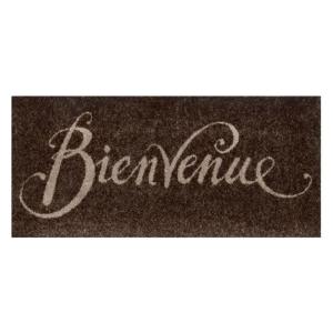 wash+dry Schmutzfangmatte Bienvenue brown - 30 x 70 cm
