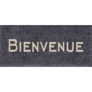 wash+dry Schmutzfangmatte Bienvenue graphite - 30 x 70 cm