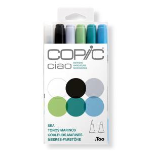 COPIC Ciao 6er Set - Meeres-Farbtöne