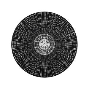 wash+dry Schmutzfangmatte Cascara black - ø 145 cm