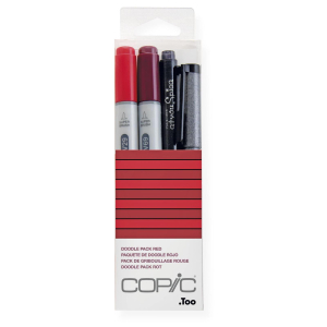 COPIC Ciao 4er Set Doodle Pack - rot