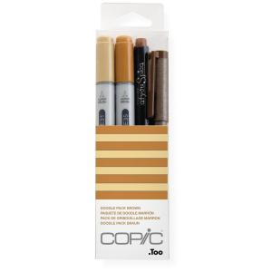 COPIC Ciao 4er Set Doodle Pack - braun