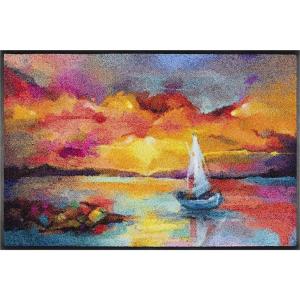 wash+dry Schmutzfangmatte Sunset Boat - 50 x 75 cm