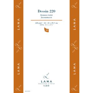 Lana Dessin Zeichenblock - 220 g/m² - DIN A3 - 30 Blatt
