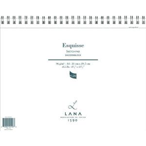 Lana Esquisse Skizzenblock - 96 g/m² - DIN A2 - 60...