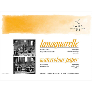Lana Lanaquarelle Block - 300 g/m² - satiniert - 36...