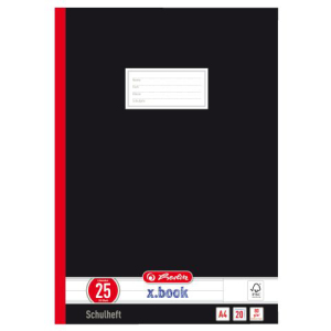 herlitz Oberschulheft - DIN A4 - Lineatur 25 - 20 Blatt