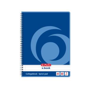 herlitz Collegeblock - DIN A5 - 70 g/m² - liniert -...