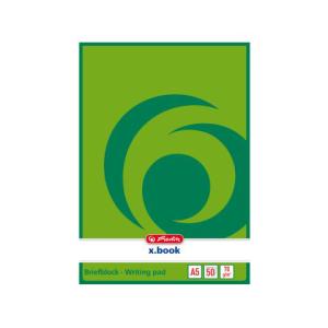herlitz Briefblock - DIN A5 - 70 g/m² - blanko - 50...