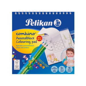 Pelikan Combino Zeichenblock - 15 x 15 cm - spiral - 15...