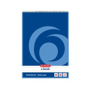herlitz Spiralnotizblock - DIN A5 - 60 g/m² -...