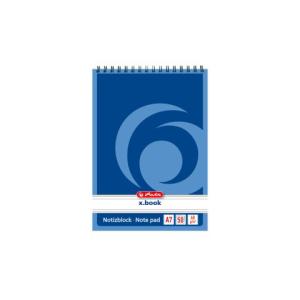 herlitz Spiralnotizblock - DIN A7 - 60 g/m² -...
