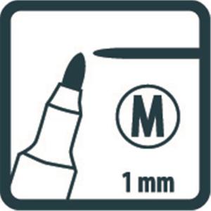 Pica Classic 534 Permant Pen - Medium - 1 mm - schwarz