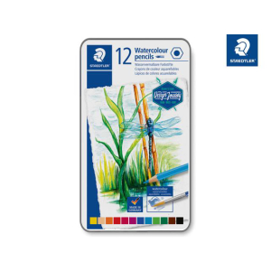 Staedtler Farbstift aquarell 12ST Metalletui