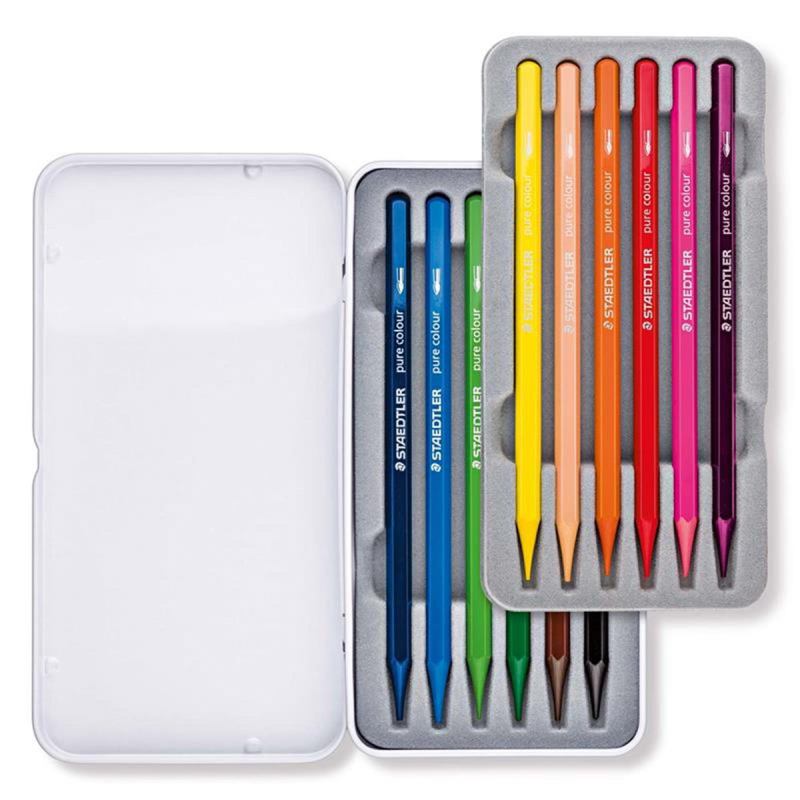Staedtler Vollfarbstift aquarell 12 ST Metalletui