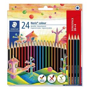 STAEDTLER Noris colour Promo 20+4 Buntstifte - 3 mm -...