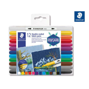 Staedtler Fasermaler fabric duo 12St Box