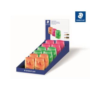 STAEDTLER Dosenspitzer - rund - neon - 3 Farben sortiert