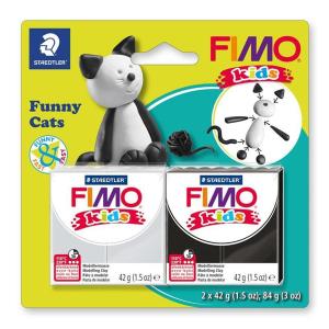 STAEDTLER FIMO kids 8035 Modelliermasse - 2 Blöcke...