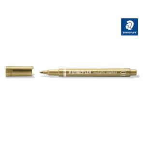 STAEDTLER 8323 metallic marker - 1-2 mm - metallic gold