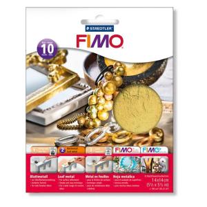 STAEDTLER FIMO 8781 Blattmetall - gold - 10 Stück