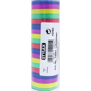 Stylex Luftschlangen - farbig - 4 m - 18er Röllchen