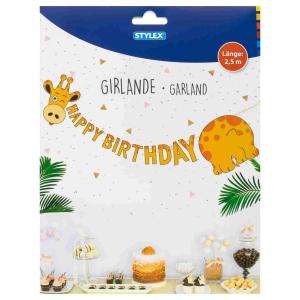 Stylex Girlande - Happy Birthday - 3 Mtoive sortiert