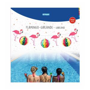 Stylex Girlande - Flamingo+Wabenball - 4 m