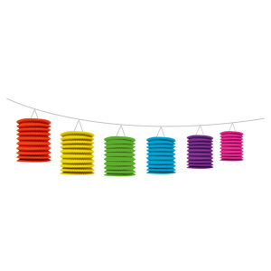 Stylex Laternen-Girlande - 2,50 m - farbig
