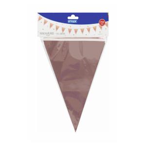 Stylex Girlande - Folie - 12 Fähnchen - farbigsortiert