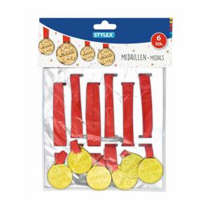Stylex Medaillen - Winner - Kunststoff - 6 Stück