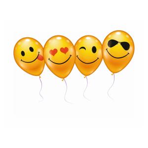 Stylex Luftballons - Smiley - 75 cm - 6 Stück