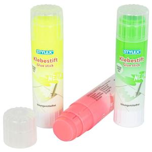 Stylex Klebestift - Paste - 20 g - neon - farbig sortiert