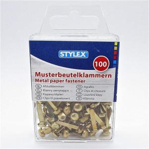 Stylex Musterklammern - 19 mm - gold - 100er Schachtel