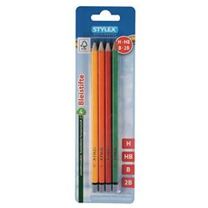 Stylex 4 Bleistifte - 4 Härtegrade - ohne Radiergummi