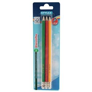 Stylex 3 Bleistifte HB - mit Radiergummi
