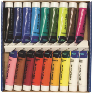 Stylex Acrylfarbe - 18er Schachtel à 36 ml