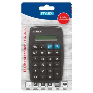 Stylex Taschenrechner - 7 x 11,5 cm - farbig sortiert