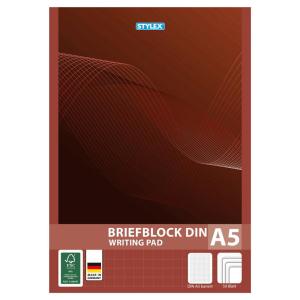 Stylex Briefblock - DIN A5 - kariert - 1 Stück