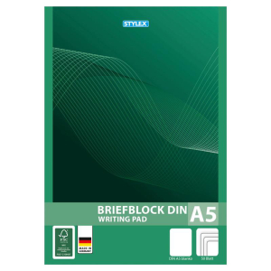 Stylex Briefblock - DIN A5 - blanko - 1 Stück