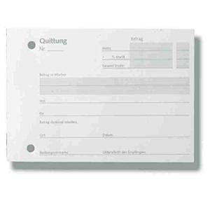 Stylex Quittungsblock - DIN A6 - 50 Blatt - FSC