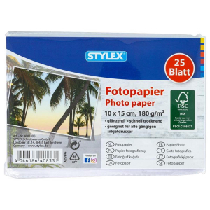 Stylex Fotopapier - 10 x 15 cm - 25 Blatt