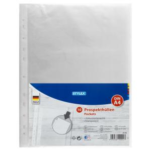 Stylex Prospekthüllen - DIN A4 - 10 Stück
