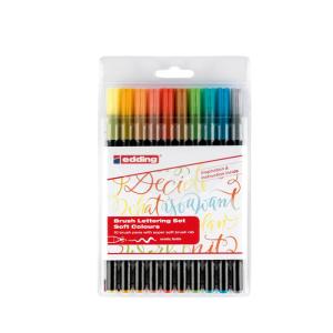 edding 1340 Brush Lettering 10er Set - sanfte Farben