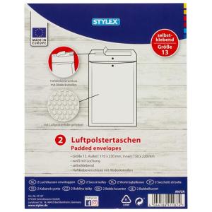 Stylex Luftpolstertaschen - Gr. 13 - 17 x 23 cm - 2...